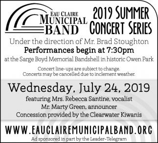 2019 Summer Concert Series