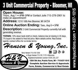 3 Unit Commercial Property