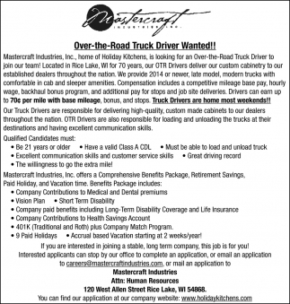 Over-the-Road Truck Driver Wanted