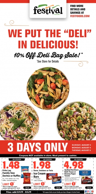 10% OFF Deli Bag Sale