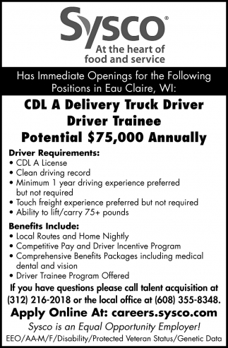 CDL A Delivery Truck Driver