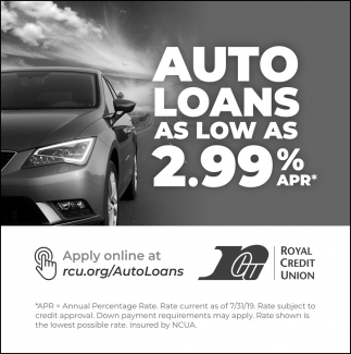 Auto Loans as Low as 2.99% APR
