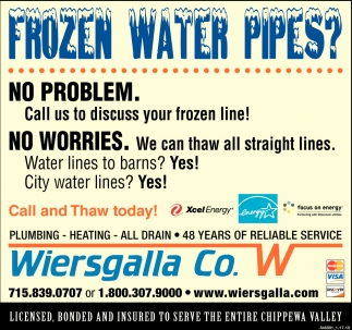 Frozen Water Pipes?