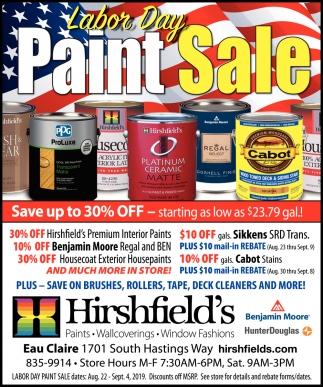 Labor Day Paint Sale