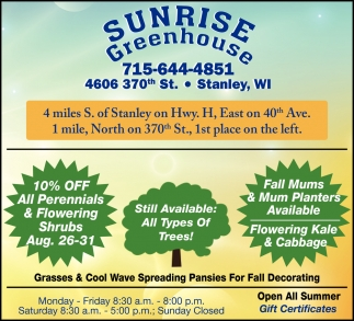 10% OFF All Perennials