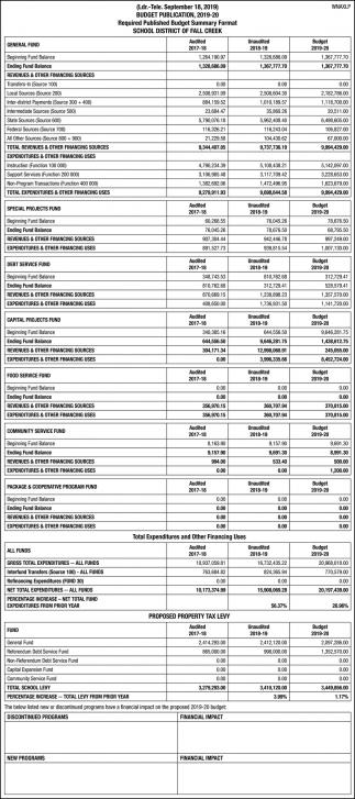 Budget Publication