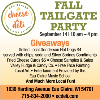 Fall Tailgate Party