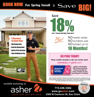 Book Now for Spring Install