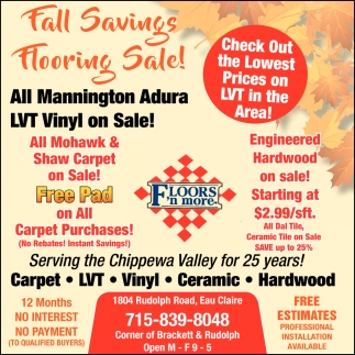 Fall Savings Flooring Sale!