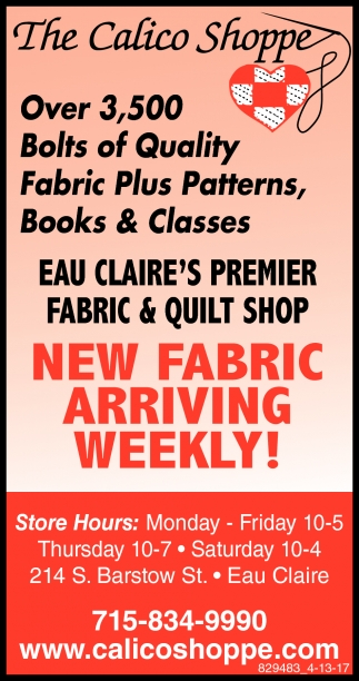 New Fabric Arriving Weekly!