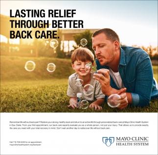 Lasting Relief