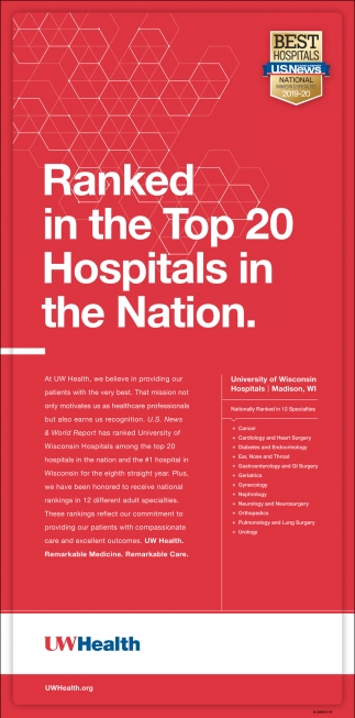 Ranked in the Top 20 Hospitals in the Nation