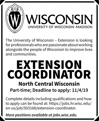 Extension Coordinator