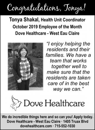 Congratulations, Tonya!