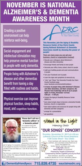 Alzheimer's & Dementia Awareness Month