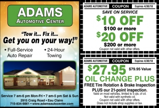 Adams Automotive Center