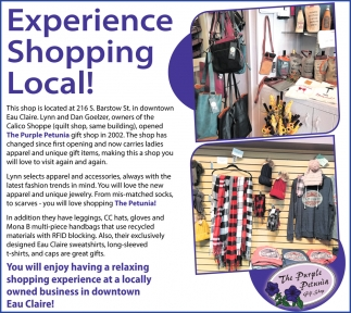 Experience Shopping Local