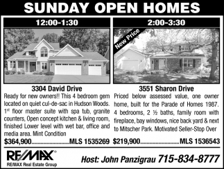 Sunday Open Homes