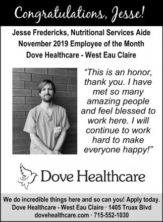 Congratulations, Jesse!