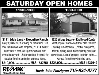 Saturday Open Homes