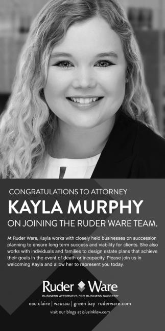Congratulations Kayle Marphy