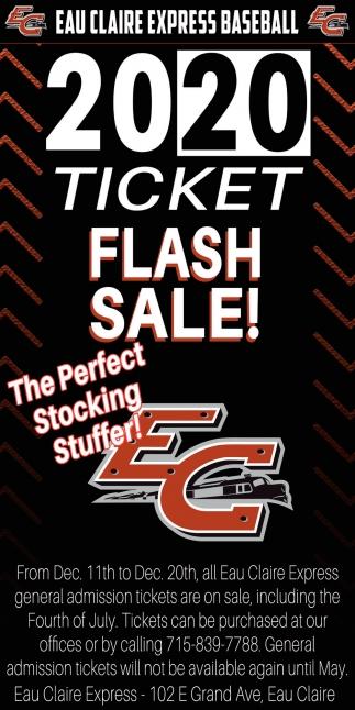 2020 Ticket Flash Sale