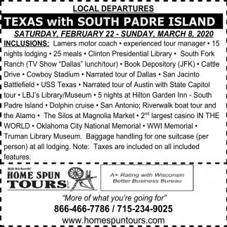 Texas with Soth Prade Island