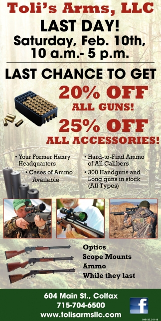20% OFF All Guns!