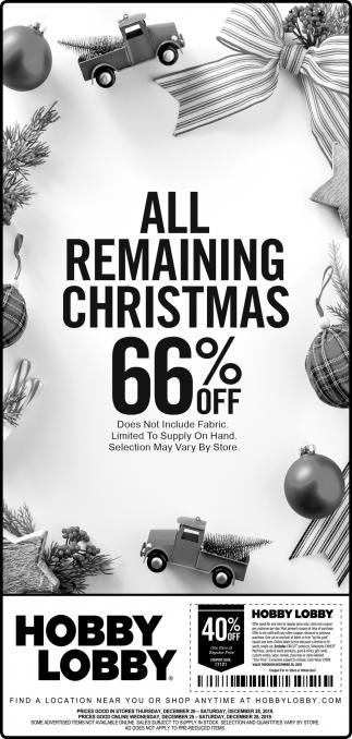 All Remaining Christmas