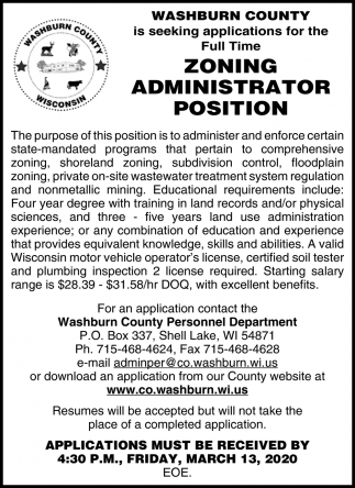 Zoning Administrator Position