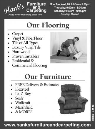 Furniture and Carpeting