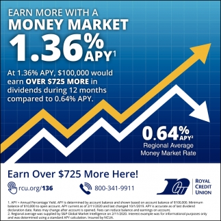 Earn More with a Money Market 1.36% APY