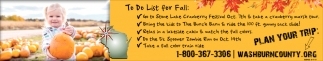 To Do List for Fall