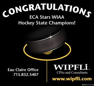 Congratulations ECA Stars WIAA Hockey State Champions
