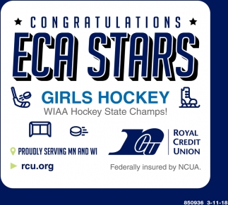 Congratulations Eca Stars Girls Hockey
