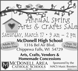 Annual Spring Arts and Craft Sale