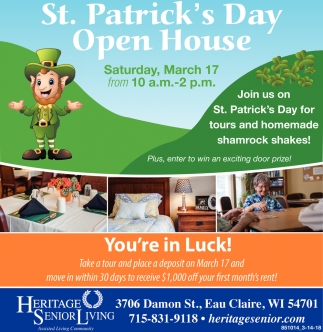 St. Patrick's Day Open House