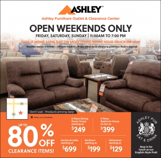 Open Weekends Only Ashley Furniture Eau Claire Wi