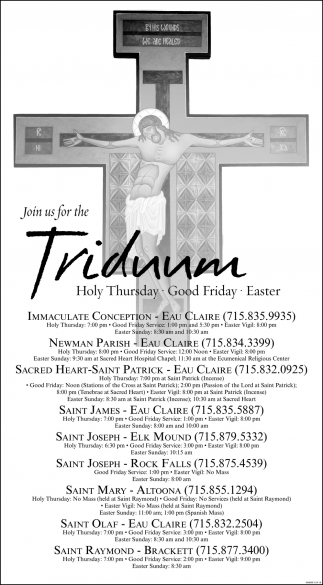 Join Us For The Triduum