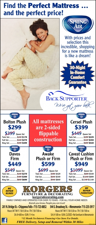 Find the Perfect Mattress