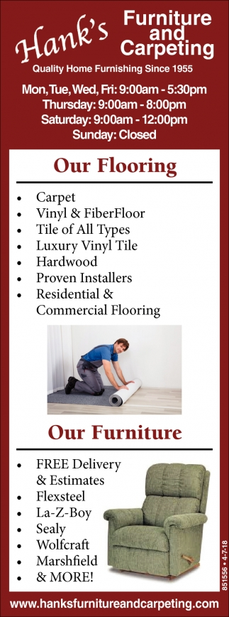 Furniture and Carpeting