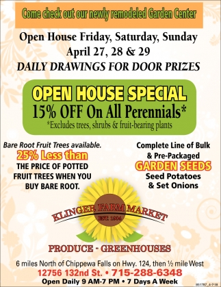 Open House Special