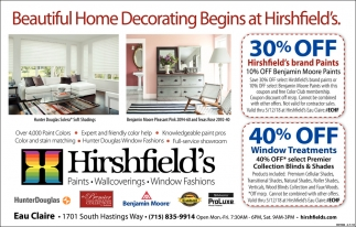 Beautiful Home Decorating Begins at Hirshfield's