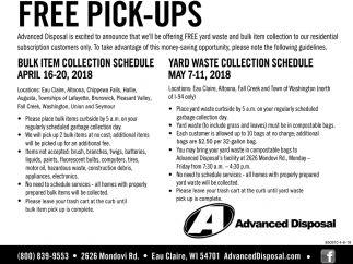 Free Pick-Ups