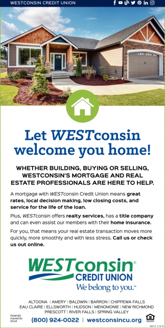 Let Westconsin welcome you home!