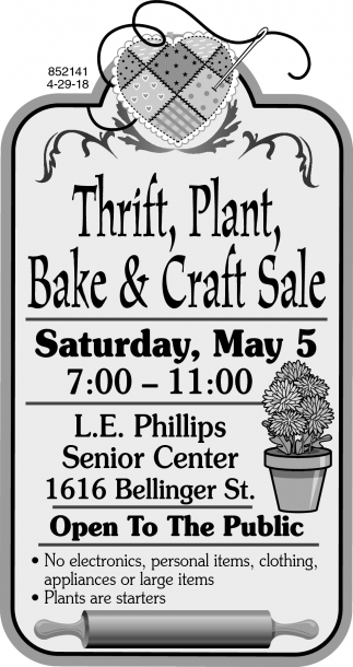 Thrift, Plant, Bake & Craft Sale