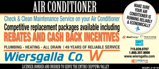 Check & Clean Maintenance Service on your Air Conditioner