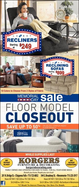 Floor Model Closeout