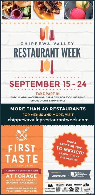 Chippewa Valley Restaurant Week