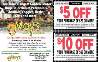 Eau Claire's Largest Garden Center